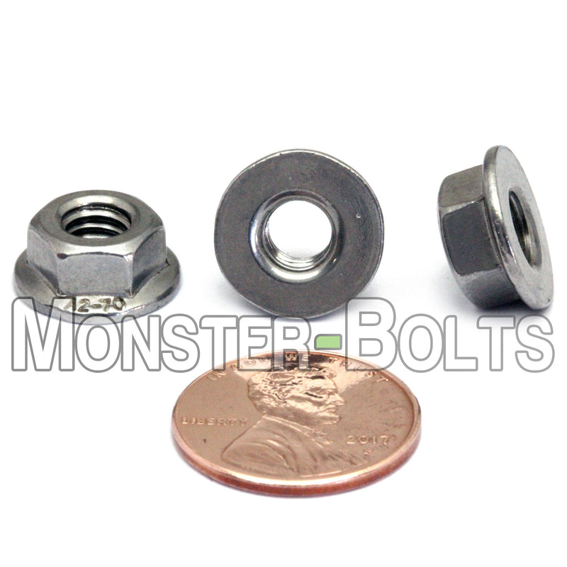 Metric Hex Flange Nuts -Stainless Steel DIN 6923 / ISO 4161 - Monster Bolts