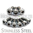 Stainless Steel Guitar Locking Nut and Saddle Intonation Screws - Floyd Rose Tremolo - Monster Bolts