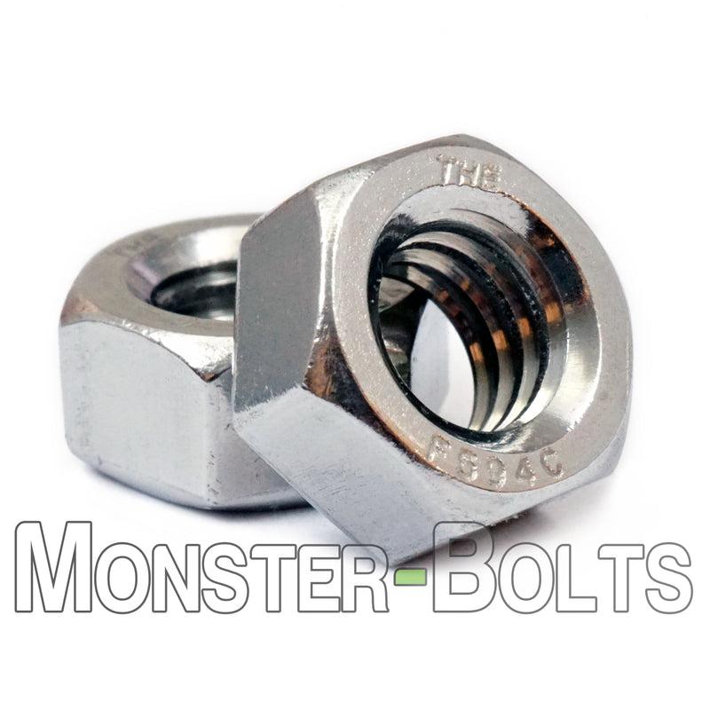 U.S. / Inch - Finished Hex Nuts - Stainless Steel A2 / 18-8