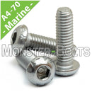 M5 Marine Grade Button Head Socket Cap screws, Stainless Steel A4 (316) - Monster Bolts