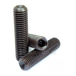 8mm / M8 x 1.25 - CUP Point Socket Set screws, Class 14.9 Alloy Steel Black Oxide