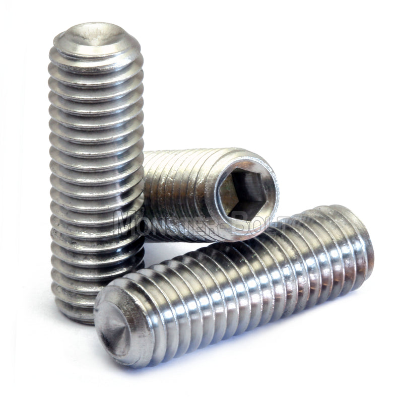 M6 Cup Point Socket Set screws, Stainless Steel A2 (18-8) - Monster Bolts
