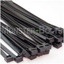 "Black Nylon 66 UV Rated Cable Ties, UL Listed, Outdoor Use - 4"" 6"", 8"" & 10"""