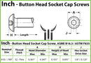 #10-32 Fine  Stainless Steel Button Head Socket Caps screws - 18-8 / A2