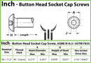 #4-40  Stainless Steel Button Head Socket Caps screws - 18-8 / A2