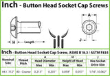 #4-40 - Stainless Steel Button Head Socket Caps screws - 18-8 / A2