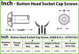 #6-32 - Button Head Socket Caps screws - Alloy Steel w/ Thermal Black Oxide