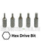 "1-inch Hex Insert Drive Bits 1/4"" Hex Shank Screwdriver / Drill Bits, S2 Steel - Monster Bolts"