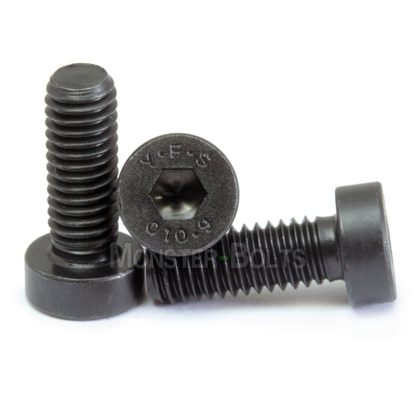 #10-32 Low Head Socket Cap screws Alloy Steel w/ Black Oxide, Coarse Thread - Monster Bolts