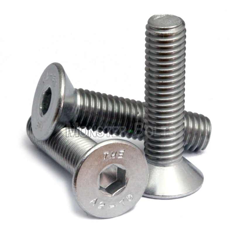 40mm A2 Stainless Steel M6 Bolts Hex Socket Head