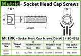 10mm / M10 x 1.5 - Stainless Steel SOCKET HEAD Caps screws DIN 912 / ISO 4762