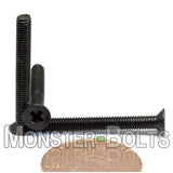 3mm (M3) - Phillips FLAT HEAD Machine screws - Carbon Steel w Black Oxide