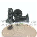 M3 Phillips Flat Head Machine screws, Steel w/ Black Oxide DIN 965 Coarse Thread