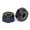 Metric Nylon Insert Hex Lock Nuts - DIN 985 Black Oxide Steel Class 8