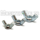 U.S. / Inch - Cold Forged Wing Nuts, Zinc Plated Steel, Type A