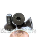"1/4""-20 - Flat Head Socket Caps screws - Alloy Steel w/ Thermal Black Oxide"