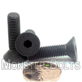 "1/4""-28 Fine - Flat Head Socket Caps screws - Alloy Steel w/ Thermal Black Oxide"