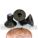 #10-32 Fine - Flat Head Socket Caps screws - Alloy Steel w/ Thermal Black Oxide