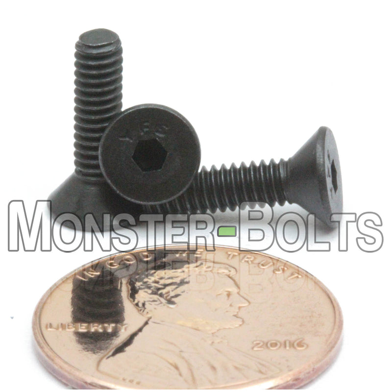 #5-40 - Flat Head Socket Caps screws - Alloy Steel w/ Thermal Black Oxide