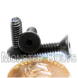 #6-32 - Flat Head Socket Caps screws - Alloy Steel w/ Thermal Black Oxide