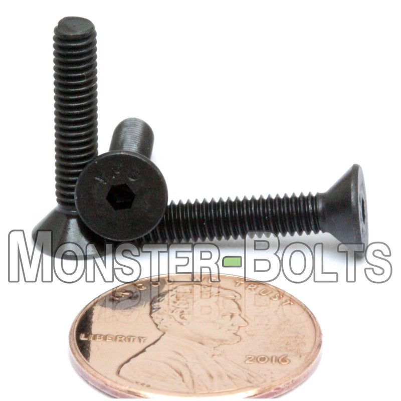 #6-40 Fine - Flat Head Socket Caps screws - Alloy Steel w/ Thermal Black Oxide