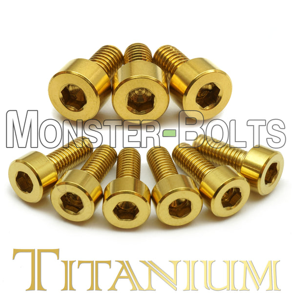 Guitar Locking Nut and Saddle Intonation Screws, Gold Anodized Titanium - Floyd Rose Tremolo - Monster Bolts