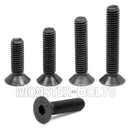 M10 Flat Head Socket Cap screws, Class 12.9 Alloy Steel w/ Black Oxide - Monster Bolts
