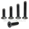 M3 Flat Head Socket Cap screws, Class 12.9 Alloy Steel w/ Black Oxide - Monster Bolts