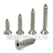 #8 Square Drive Flat Head Type A Self-Tapping Sheet Metal Screws, Stainless Steel 18-8 - Monster Bolts