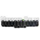 Black M3 Guitar Screws for Bridge Saddle Height Adjustment - Metric For Fender 'MIM' Stratocaster and similar - Monster Bolts