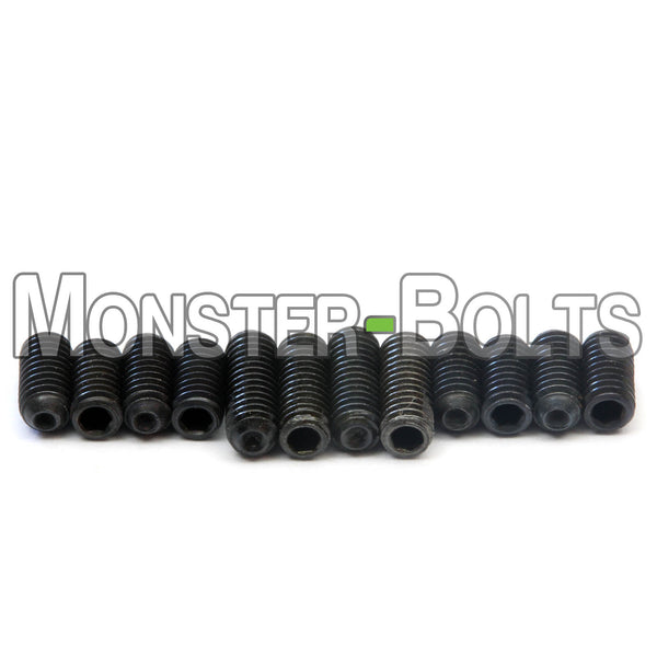 Black #4-40 Guitar Screws for Bridge Saddle Height Adjustment - For American made Fender Stratocaster and similar - Monster Bolts