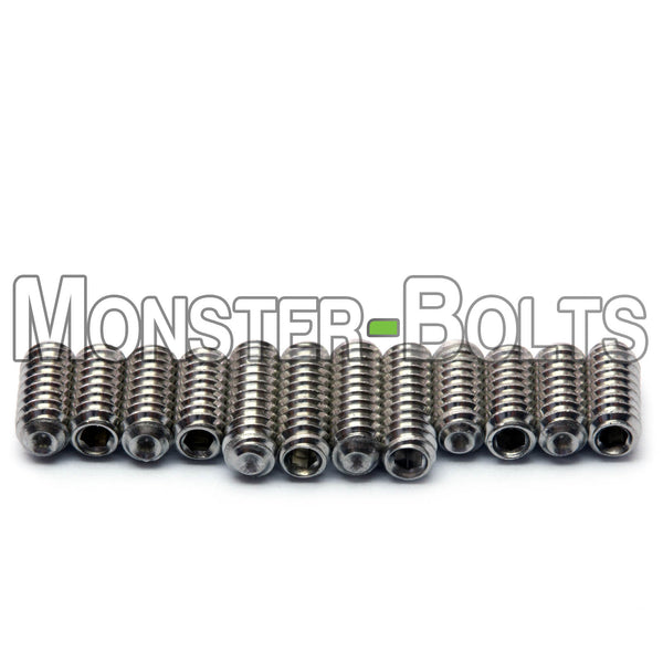 #4-40 Guitar Screws for Bridge Saddle Height Adjustment, Stainless Steel - For American made Fender Stratocaster and similar - Monster Bolts