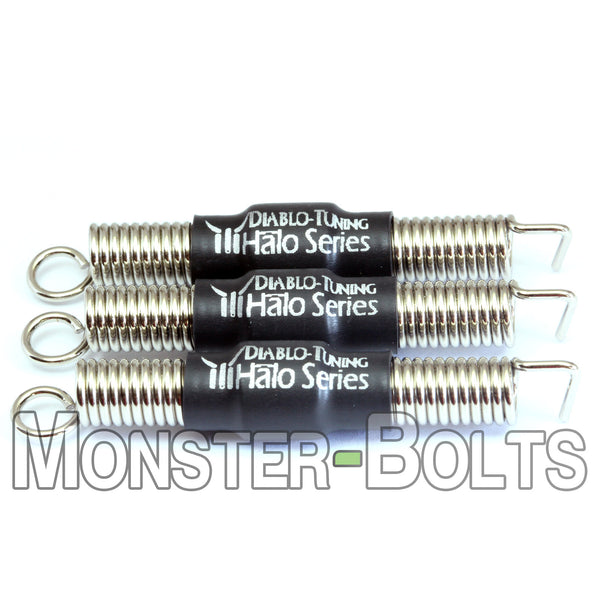 Original Black Halo Series - Noiseless Guitar Tremolo Springs - Monster Bolts