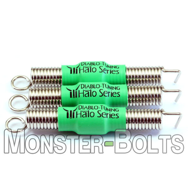Green Halo Series - Noiseless Guitar Tremolo Springs - Monster Bolts