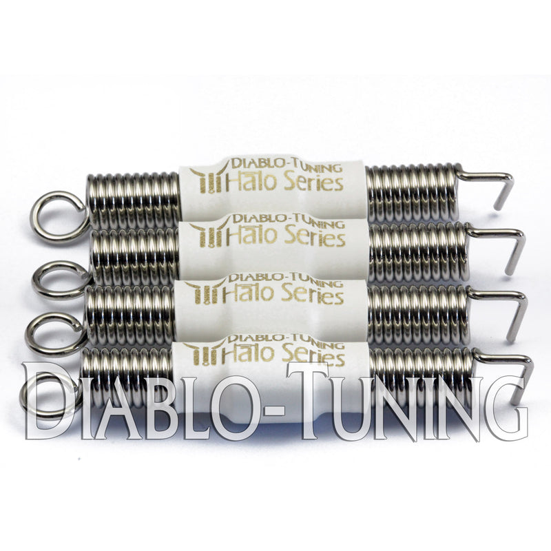 White Halo Series - Noiseless Guitar Tremolo Springs - Monster Bolts