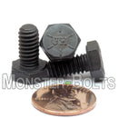 "1/4""-20 Hex Cap Bolts / screws Grade 8 Alloy Steel w/ Black Oxide - Monster Bolts"