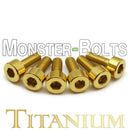Gold Anodized Titanium, Guitar Saddle Intonation Screws - Floyd Rose Tremolo - Monster Bolts