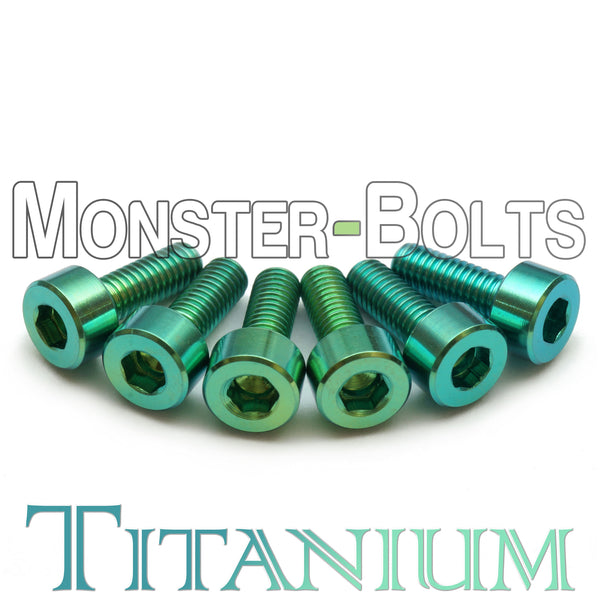 Green Anodized Titanium, Guitar Saddle Intonation Screws - Floyd Rose Tremolo - Monster Bolts