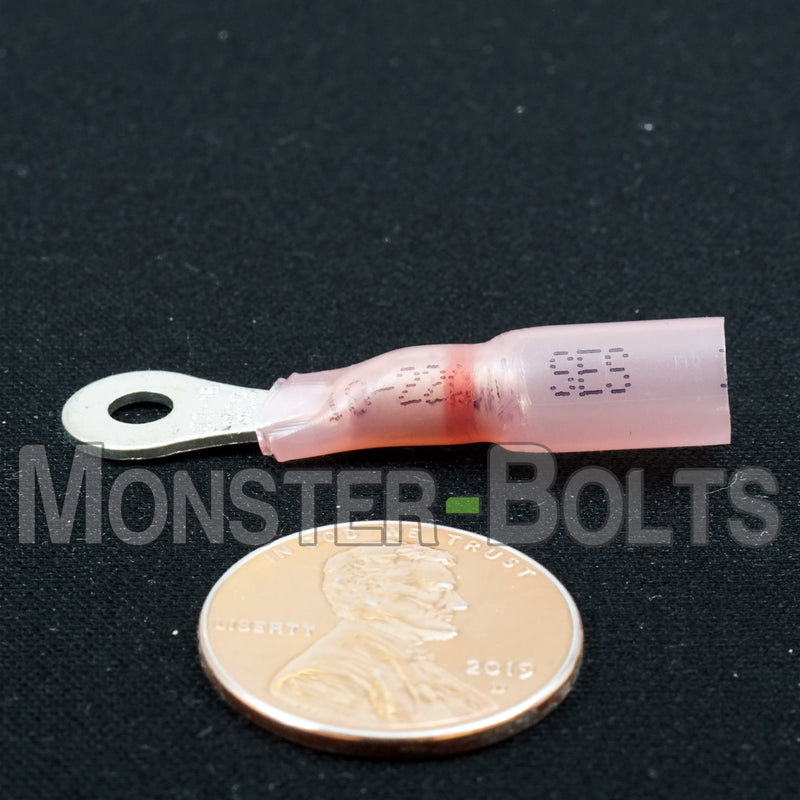 SES Krimpa-Seal Waterproof Crimp Long Neck Ring Terminals, Red 18-22 AWG - Monster Bolts