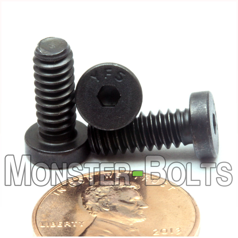 #10-24  Low Head Socket Cap screws Alloy Steel w/ Black Oxide, Coarse Thread