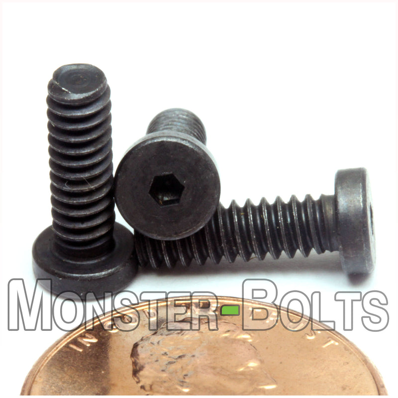 3//4 Length Small Parts 0612CSB US Made Black Oxide Alloy Steel Button Screw Hex Socket Drive Fully Threaded 3//4 Length Pack of 100 6-32 Thread Size
