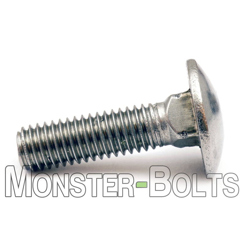 "1/4""-20  Stainless Steel Carriage Bolts /  Shaker Screen Bolts - A2 / 18-8"