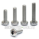 M4 Phillips Pan Head Machine screws, A2 Stainless Steel DIN 7985A Coarse Thread - Monster Bolts