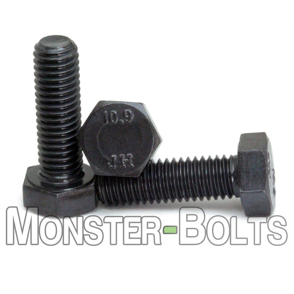 M10  Hex Bolts, 10.9 Alloy Steel w/ Black Oxide - Monster Bolts