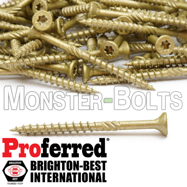 #8 Proferred Max Drive 6-Lobe Professional Decking & Outdoor wood screws