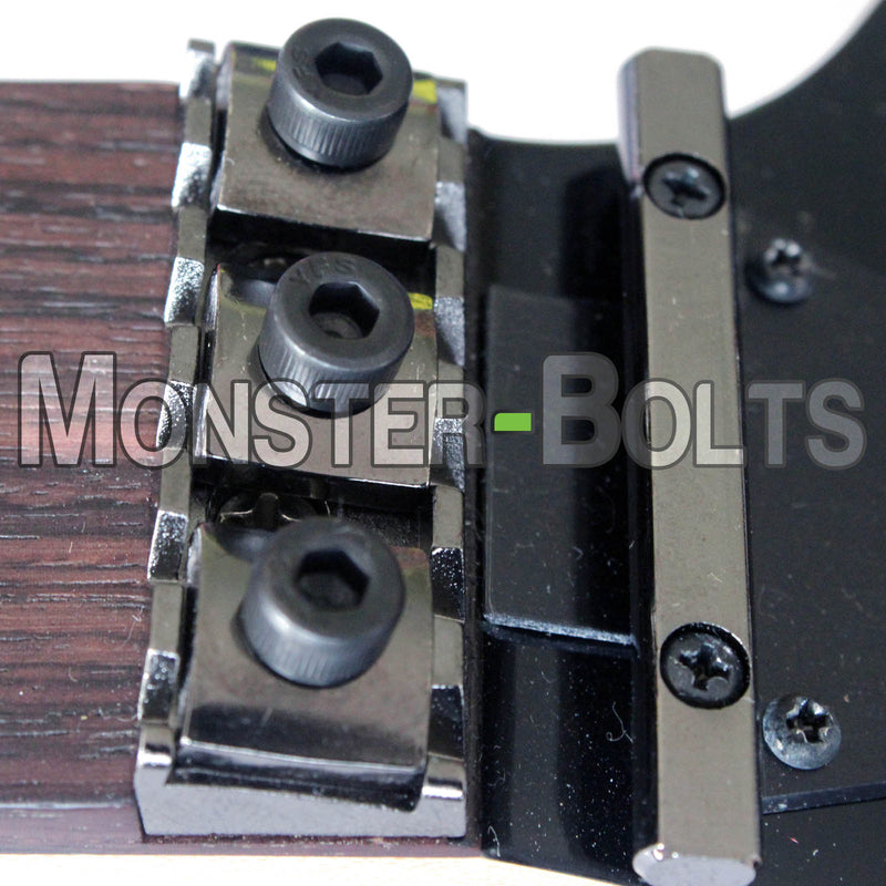 Black Guitar Locking Nut Screws - Floyd Rose Tremolo - Monster Bolts