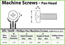 #4-40 Phillips Pan Head Machine screws - Stainless Steel 18-8