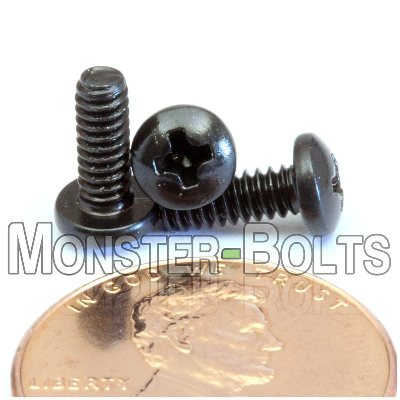 #4-40 Phillips Pan Head Machine screws - Steel with Black Oxide