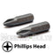 "1-Inch Phillips Drive Bits 1/4"" Hex Shank Screwdriver / Drill Bits, S2 Steel - Monster Bolts"