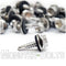#10 Hardened Stainless Steel Indent HWH w/ Bonded EPDM Sealing Washer, #3 Point BSD Self Drilling TEK Screws - Monster Bolts